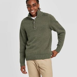 Goodfellow & Co Cowl Neck Pullover Sweater buttons